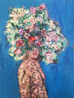 Çiçekli Portre
